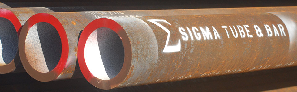 Photo of pipes with a Sigma Logo on them